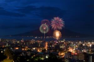 2008年(第8回)城山から - かごしま錦江湾サマーナイト大花火大会
